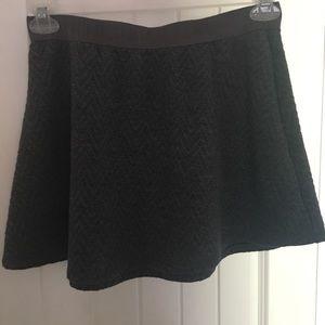 Grey, chevron detail, sweater skirt